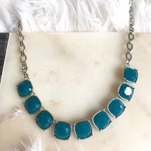 Lia Sophia Infinite Me Necklace- teal blue resin